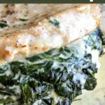 Low Carb Creamed Spinach Stuffed Pork Chops