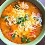 Savory Sausage Soup with Peppers and Spinach