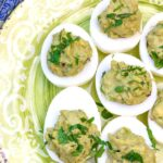 Our easy spicy avocado keto deviled eggs recipe is the best low carb appetizer if you're following the ketogenic diet.