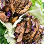 The Best Low Carb Slow Cooker Pulled Pork Lettuce Wraps