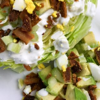 Healthy salads are a staple on the keto diet. This easy wedge salad with the best homemade blue cheese dressing is one of my favorite recipes to serve for a crowd.